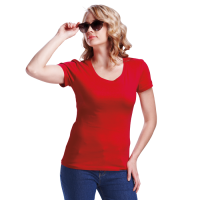 Barron cotton t-shirt 160g ladies red