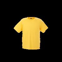 Barron polyester t-shirt yellow