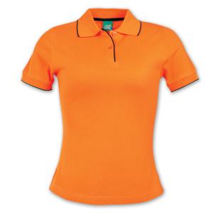 contrast trim polo shirt