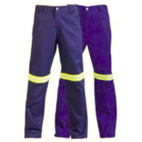 jonsson 100% cotton reflective work trouser