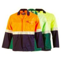 jonsson two tone reflective work jacket
