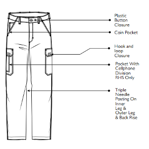 Jonsson Legendary Multi Pocket Cargo Pants