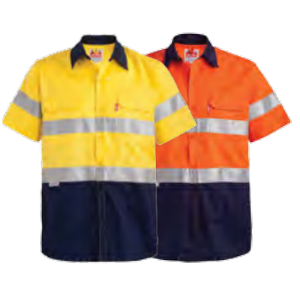 Jonsson Two Tone Short Sleeve Reflective Work Shirt