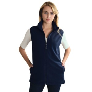 Ladies Sleeveless Fleece Jacket