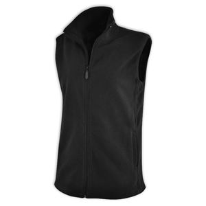 Ladies Sleeveless Fleece Jacket Black