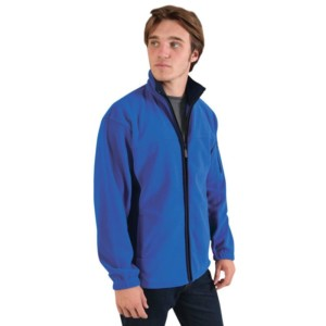 Two Tone Fleece Jacket Royal Blue